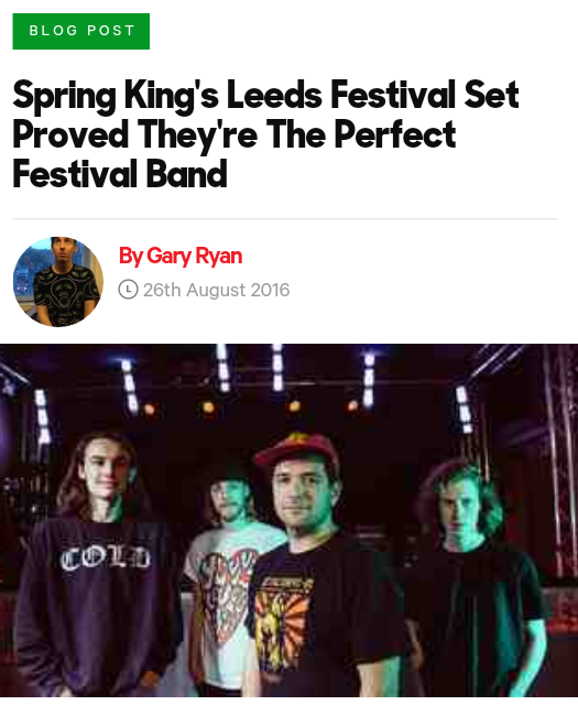 Spring King's Leeds Festival Set Proved They're The Perfect