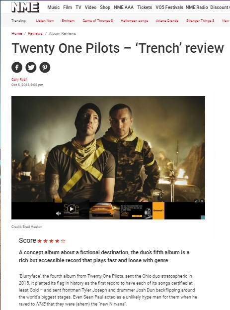 Twenty One Pilots – 'Trench' review – What Are Words Worth